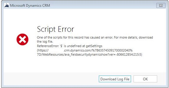 ReferenceError: $ is not defined - Microsoft Dynamics CRM