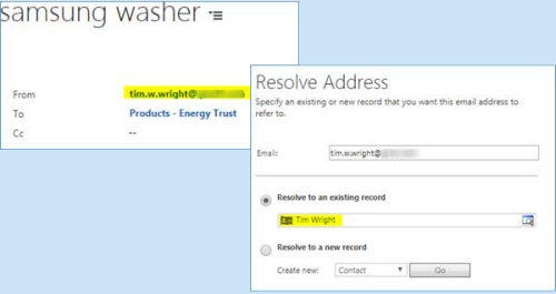 Users can't change Email Regarding or resolve Email