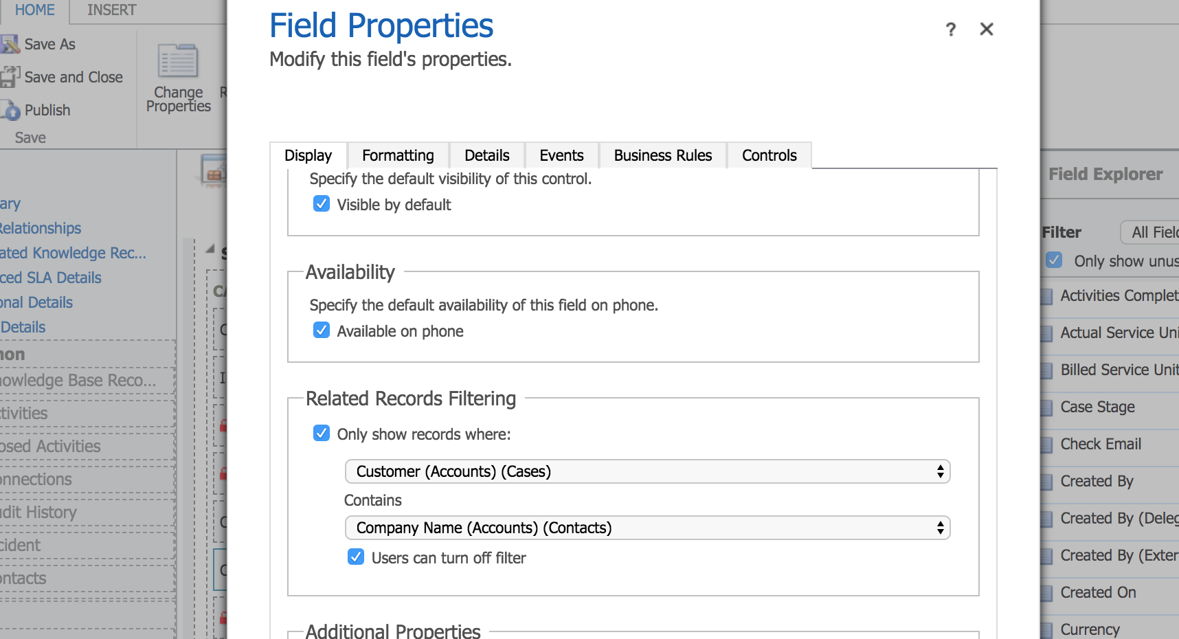 Filter Contact Lookup associated with accounts - Microsoft Dynamics