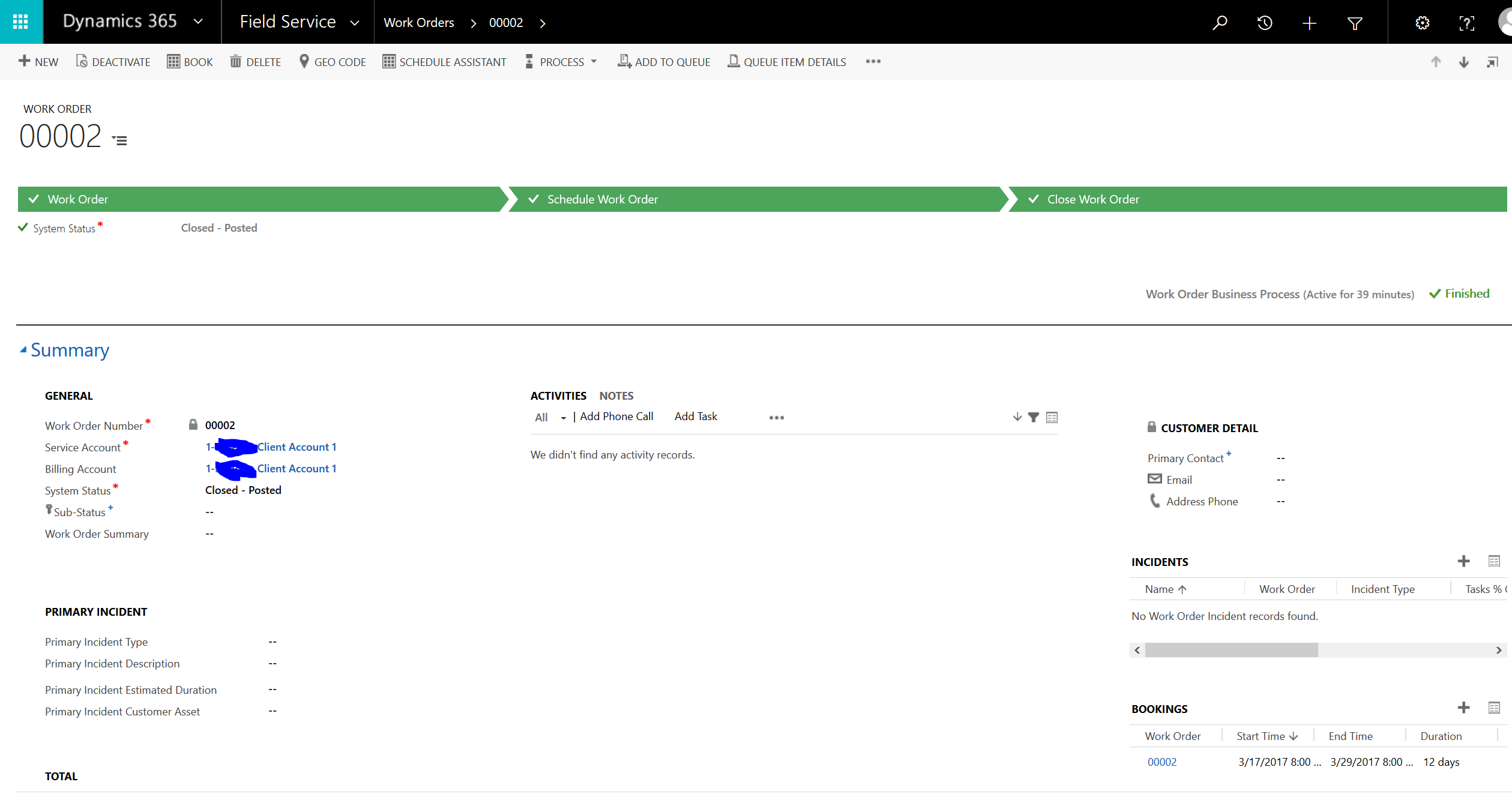 As You Can See In The Screenshot, Here Is A WO, Which Has No   Invoice Creation