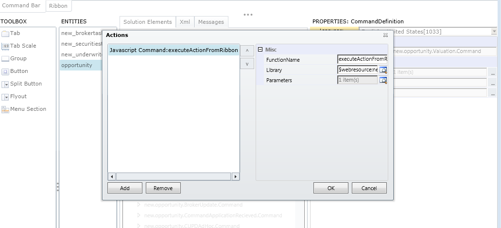 Pass Input argument to workflow from javascript - Microsoft Dynamics