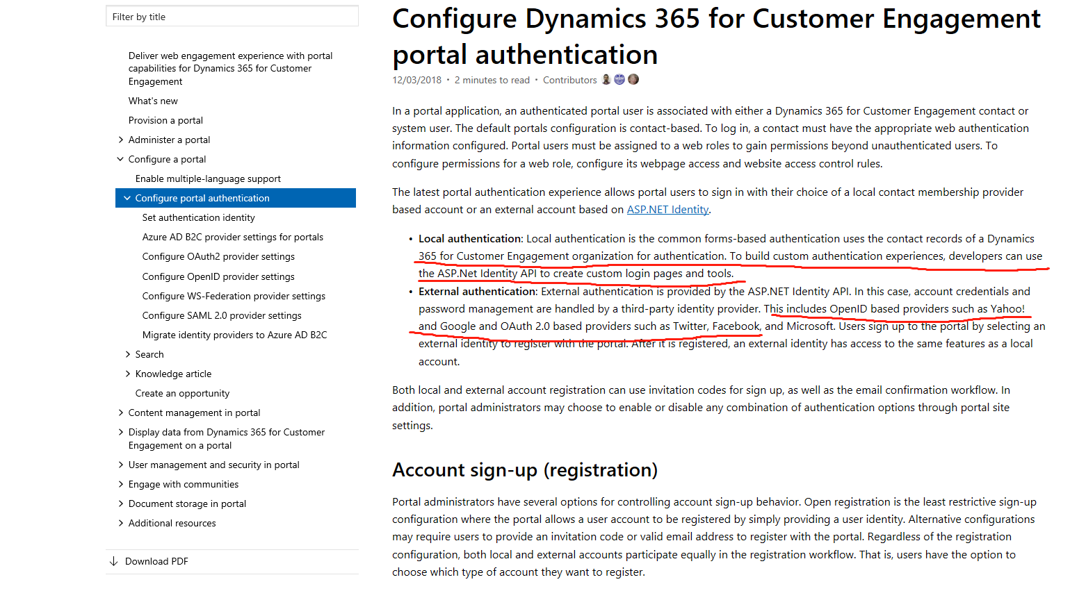 Dynamics Portal Login page - defaulting to Microsoft sign in page