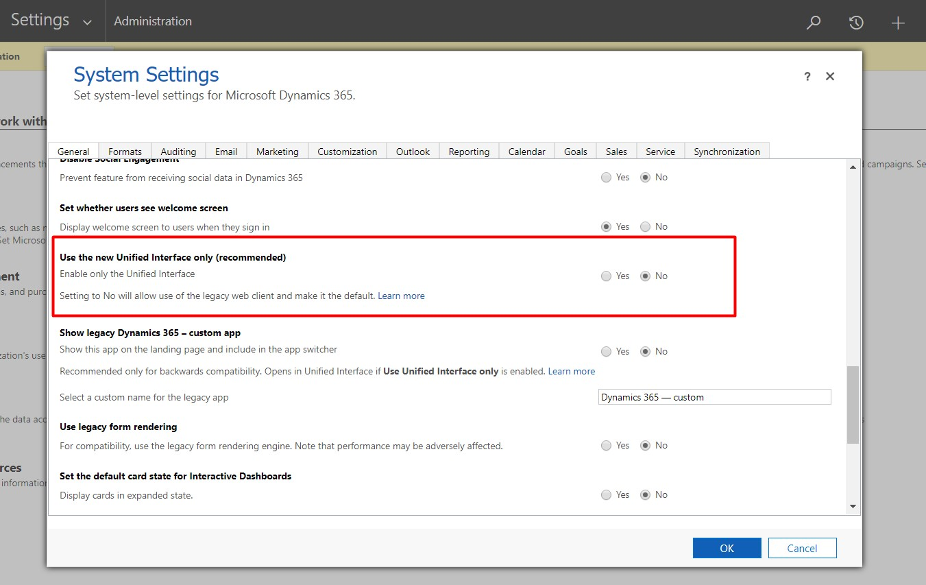 Want to rollback from Dynamics 365 New UI to old one