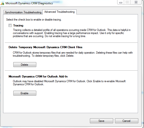 Upgraded CRM 2011 for Outlook to CRM 2013 for Outlook - CRM tab