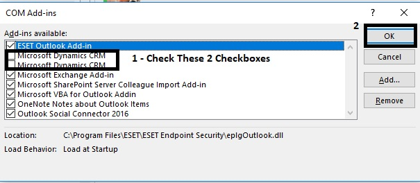 It is not possible to install CRM 2016 Outlook add-in into
