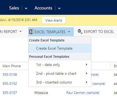 Update ViewFields In Dynamics CRM Excel Templates Microsoft - Crm excel template