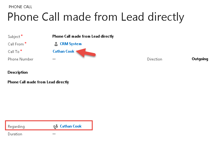 Not able to Create Phone call Activity for Lead - Microsoft ...