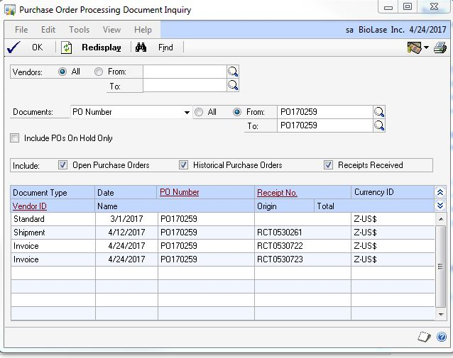 Invoice On Po Matching ProblemGp   Microsoft Dynamics Gp