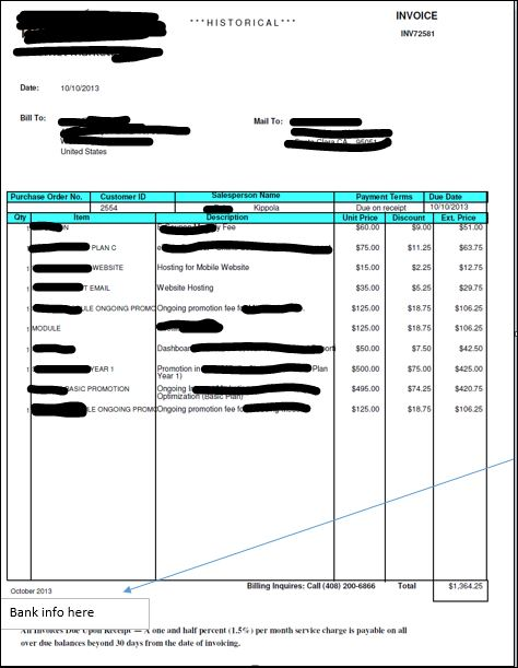 Invoice Form Showing Past Due Invoices Microsoft Dynamics