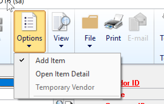 Inventory and Purchase Order Setup - Microsoft Dynamics GP