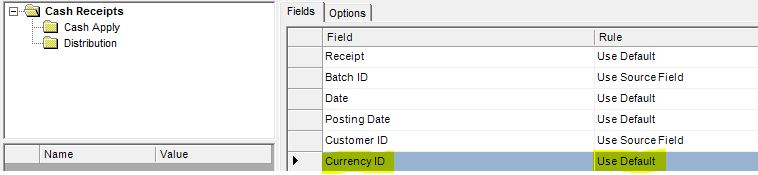 gp 2010 integration manager issue with cash receipt apply to