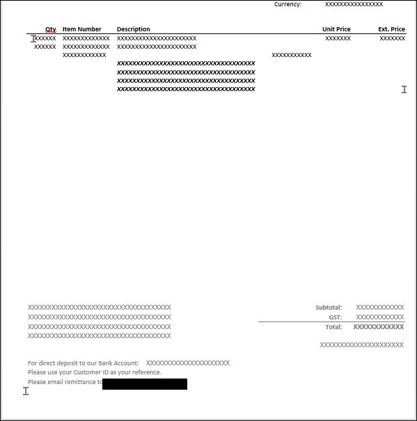 Word Templates Invoice Totals On Last Page Only Microsoft