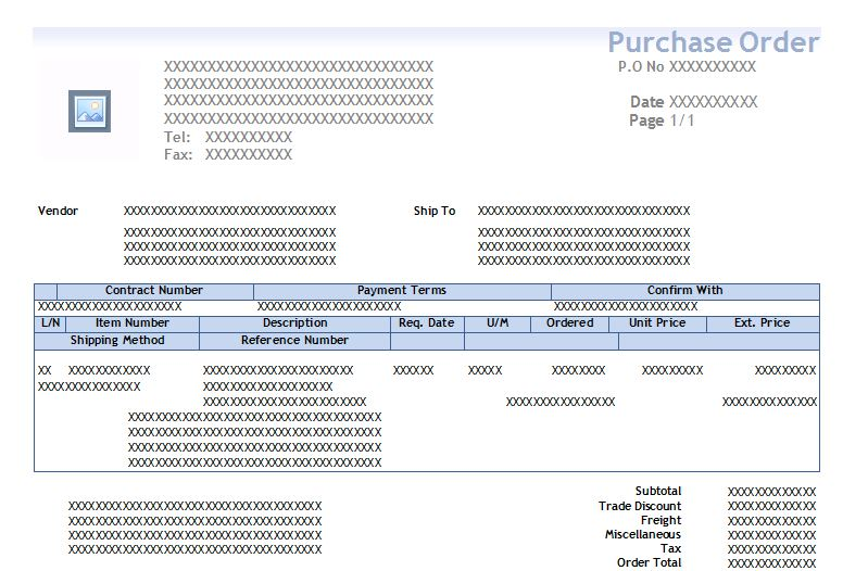 Question Status  Microsoft Purchase Order Template