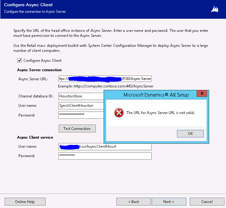 Async Client is not connecting to Async Server in Dynamics AX 2012