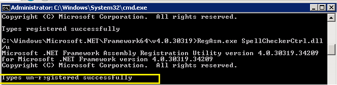 AX 2009 - Spell Checker in  NET and use as an ActiveX in AX