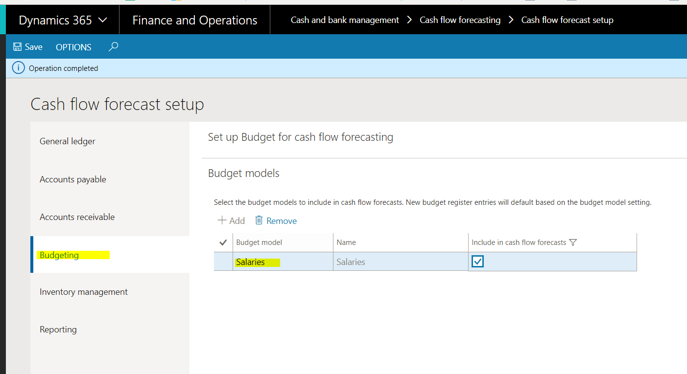 cash flow forecast for salaries and budget model microsoft