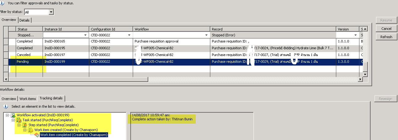 Workflow Completed With Status Pending In Ax 2009 Microsoft