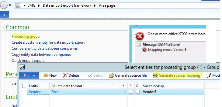 Generate Source Mapping Error Microsoft Dynamics AX Forum - Data mapping companies