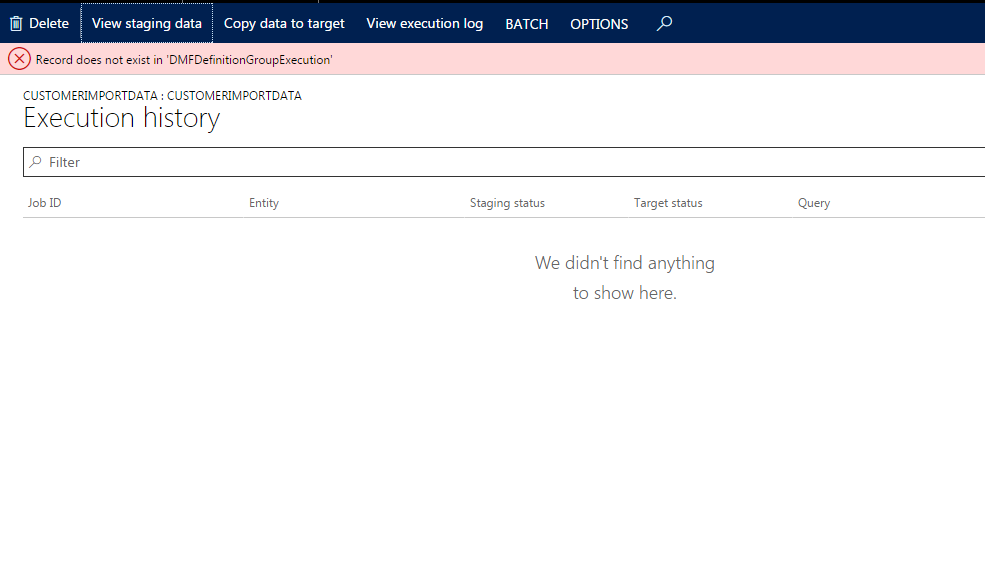 Keep all data in staging - Microsoft Dynamics AX Forum