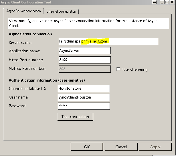 Async Client cannot connect to Async Server  - Microsoft Dynamics AX