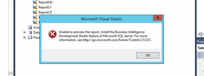 unable to edit report in vs2010 even after installing bids