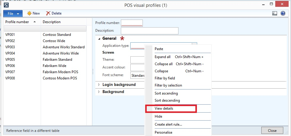 Application Type Grid Is Empty In Setting Up Visual Profiles