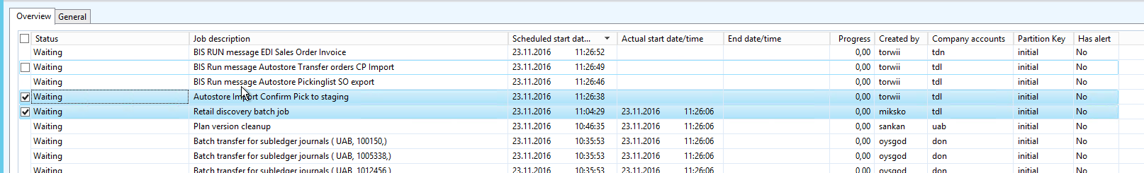 All Batch Jobs Suddenly Stopped Exectuting Microsoft Dynamics Ax