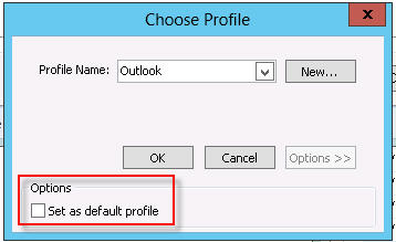 how to set up seperate profile in outlook