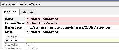 There is no service with namespace = ' http://schemas