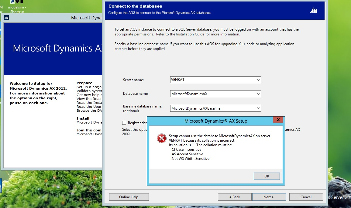 Ax pre requisites to install dynamics ax 2009 and enterprise portal -  Databases Using Database Installation In Ax Dynamics Setup In Sql Server Now I Am Trying To Install The Aos Feature But I Am Getting The Like This In