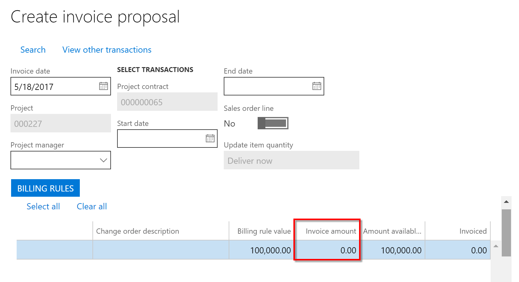 Project Supplier Invoice Not Suggesting Any Invoice Value In The - Invoice value