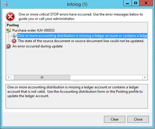 One Or More Accounting Distribution Is Missing A Ledger