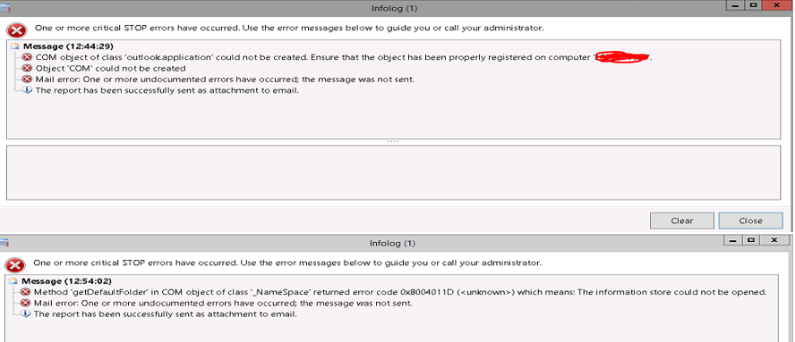 Citrix AX outlook issue while sending email - Microsoft Dynamics AX