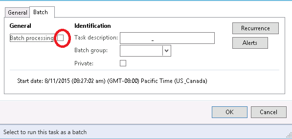 Need you help about how to check Batch Processing in