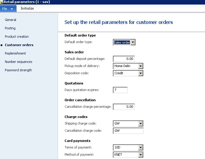 Recall Customer order Sales Quotation Sales order error in POS – Sales Quotation