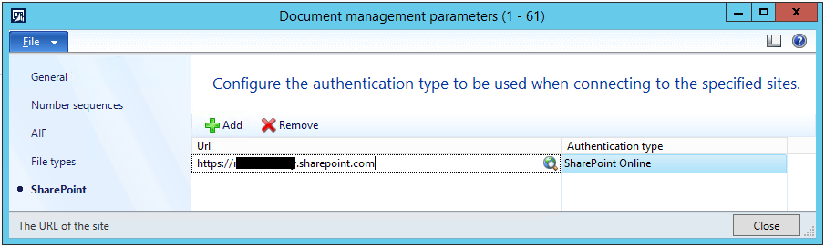 Setup document types ERROR: Could not determine the login
