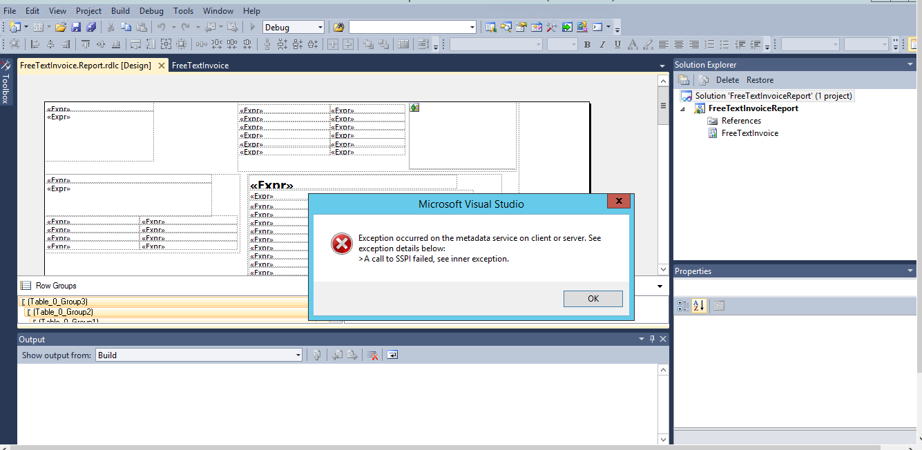 Error While deploying SSRS Report - Microsoft Dynamics AX