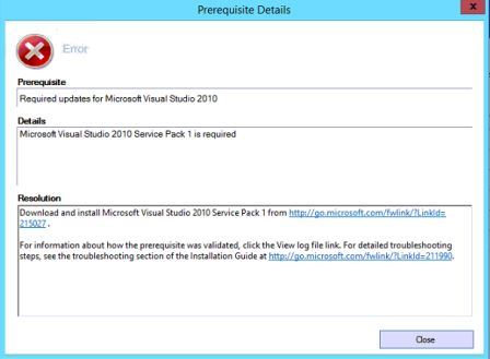 Problem when Installing Visual Studio Tools from AX