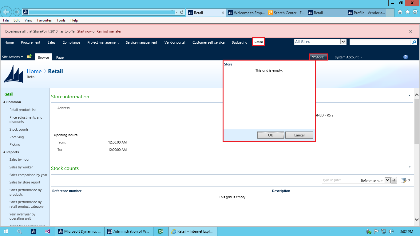 Ax pre requisites to install dynamics ax 2009 and enterprise portal - I Am Not Able To Select The Retail Stores In Enterprise Portal I Have Dax 2012 With Cu10 Installed Tags Microsoft Dynamics Ax