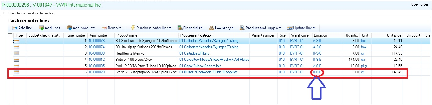 dynamics ax 2012 r3 purchase order product receipt and