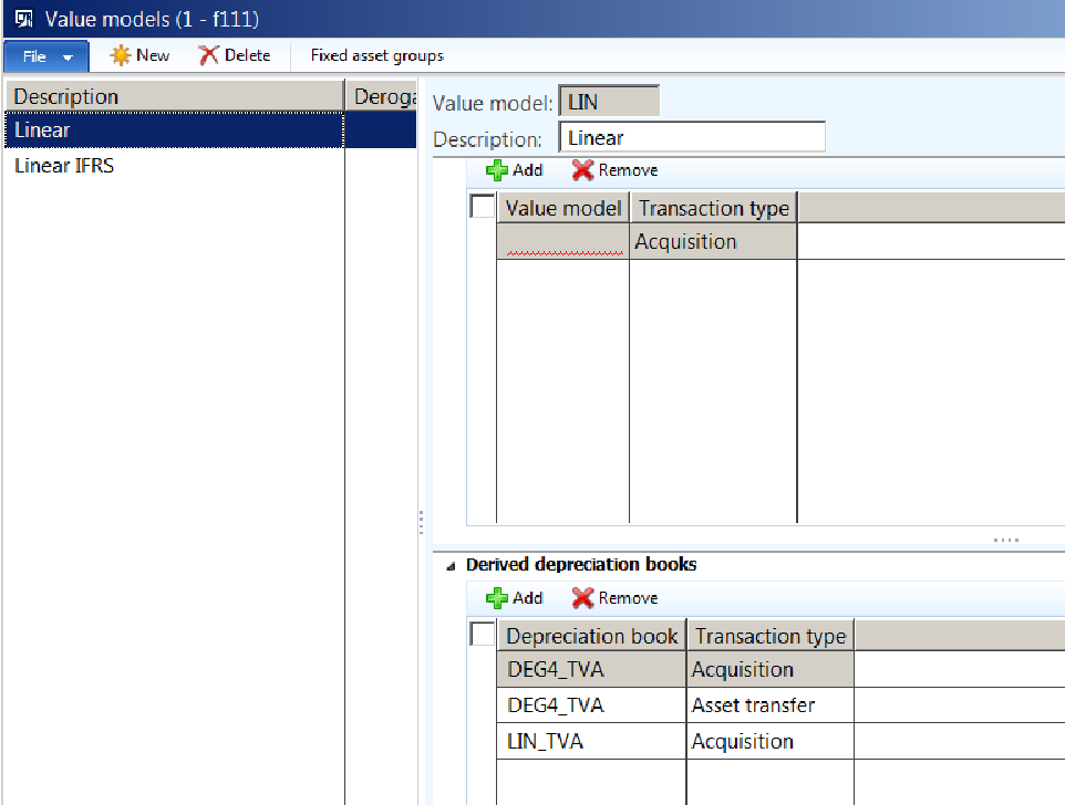 Value Model doesn't exist for fixed asset xxxx - Microsoft Dynamics