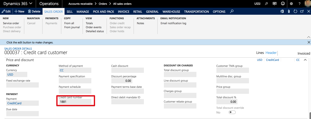 recurring credit card payment form