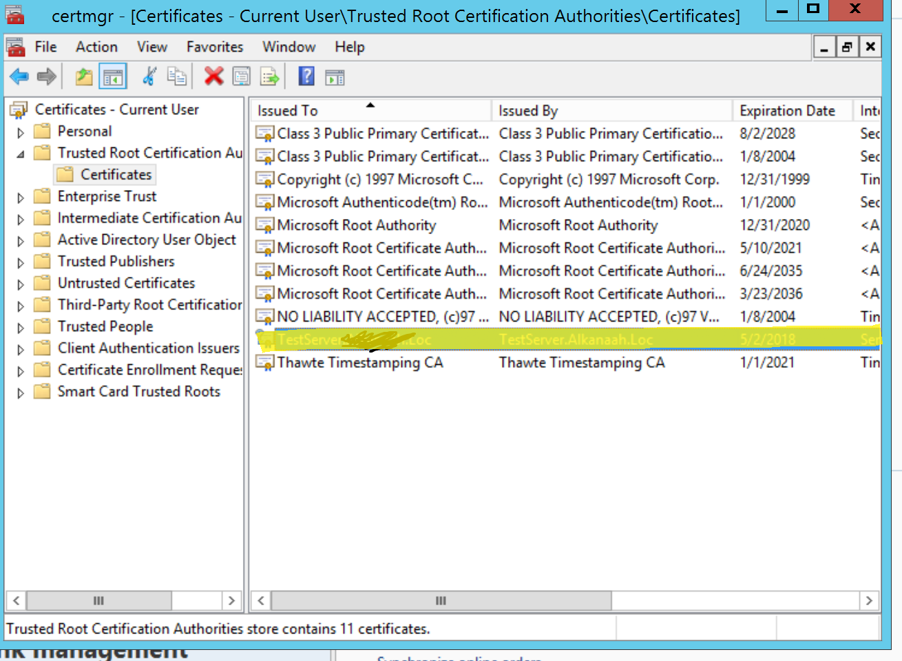 Self Signed Certificate For Async Server Microsoft Dynamics Ax