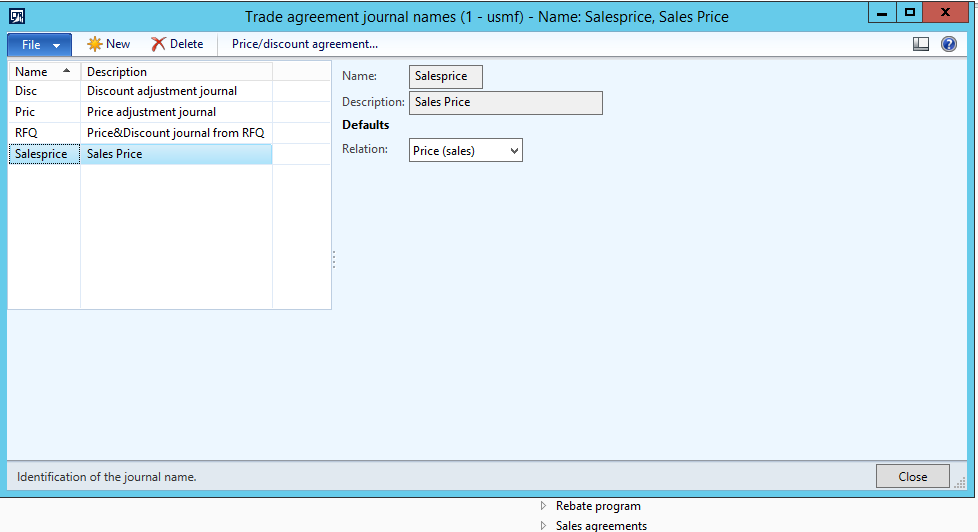 Where To Define The Sequence Number For The Price Trade Agreement