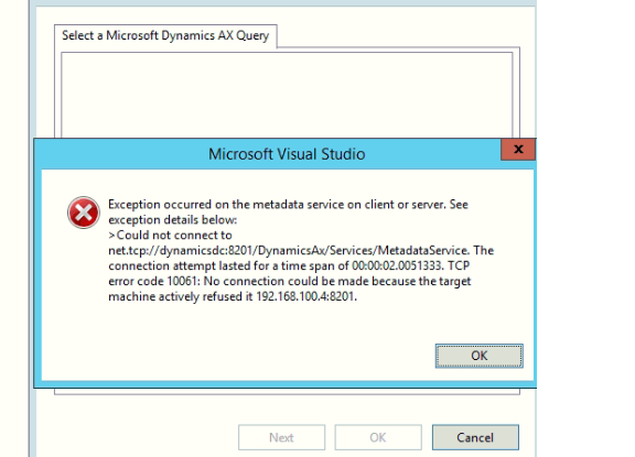 Cannot able to load queries in Visual Studio - Microsoft
