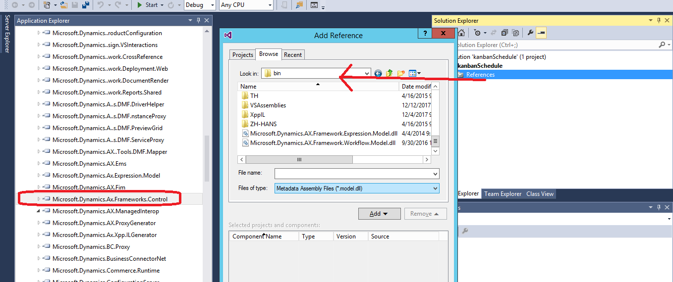 Add AOT\Reference to Visual Studio Project - Microsoft