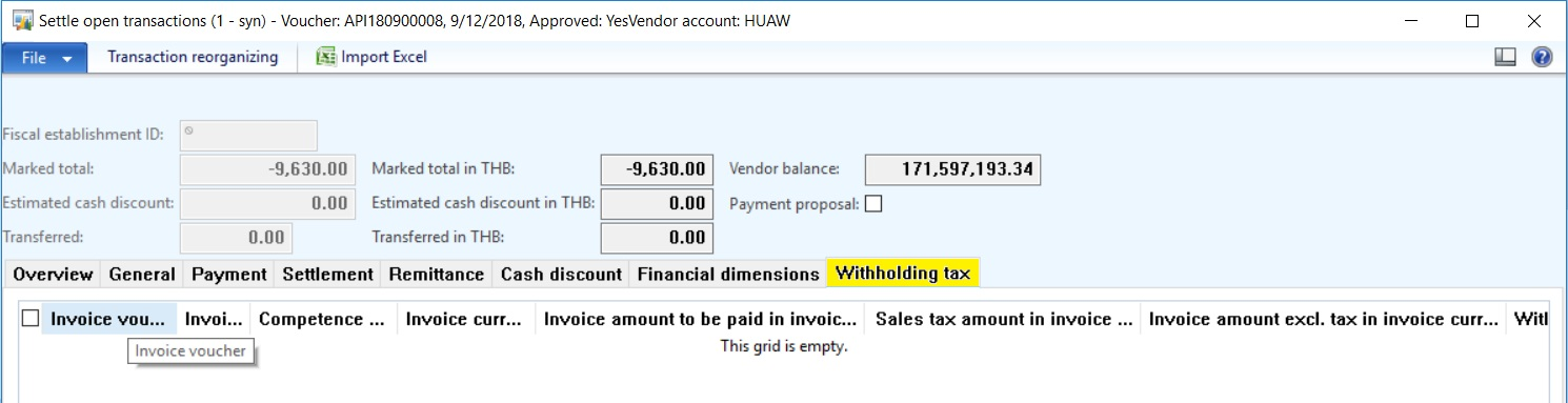 Withholding Tax record not create Microsoft Dynamics AX Forum