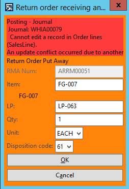 Return Order Scrap Process using Advanced Warehouse
