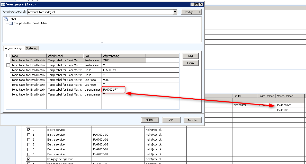 Using wildcards in queryvalue - Microsoft Dynamics AX Forum