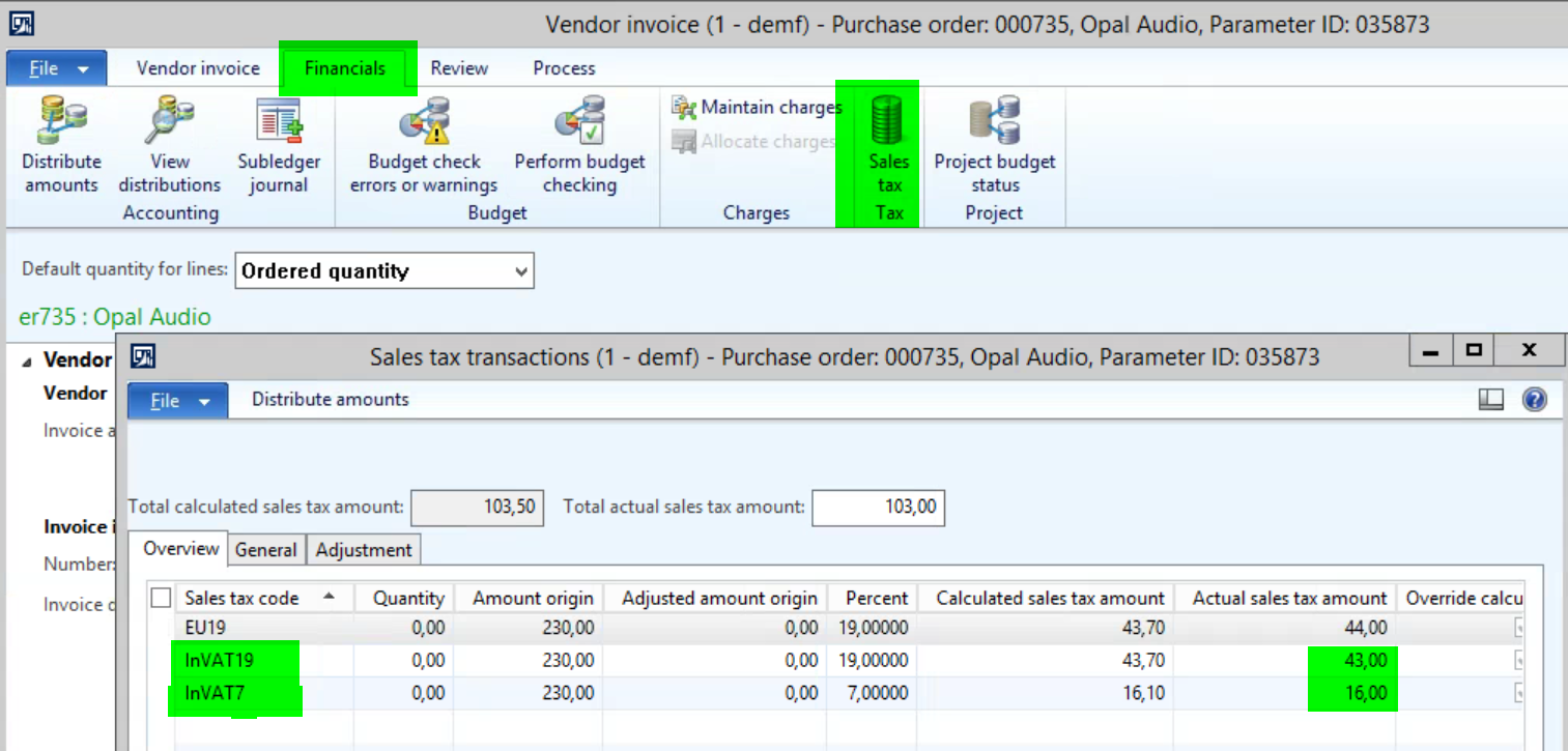 PO Sales Tax for Purchases with No Item # - Microsoft Dynamics AX ...
